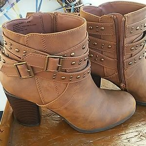 Adorable brown booties by Madden Girl